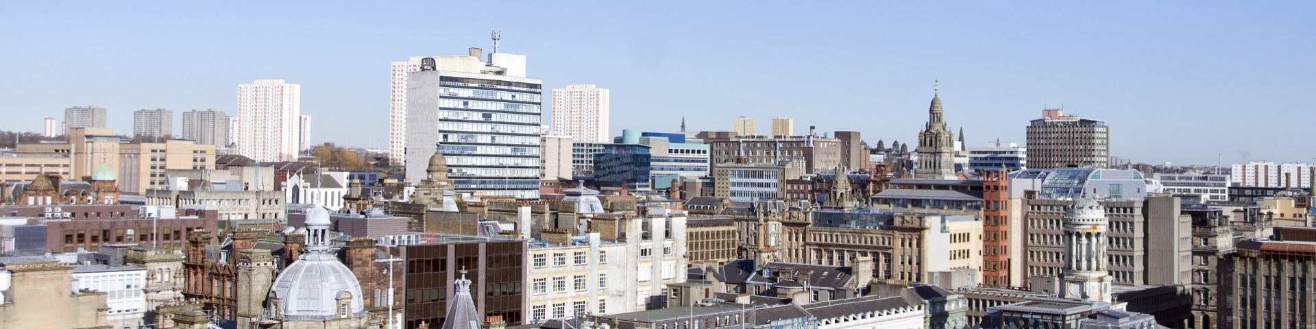 A view of Glasgow's rooftops