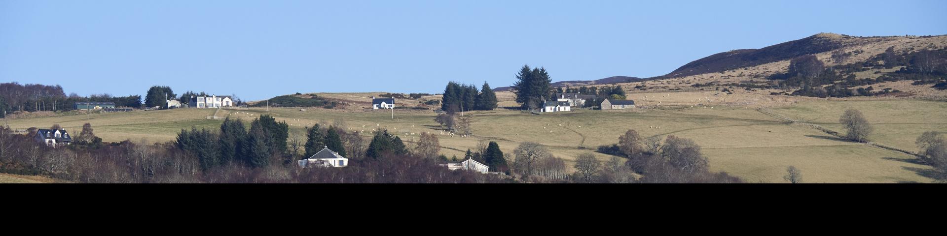 View of the hills above Drumnadrochit