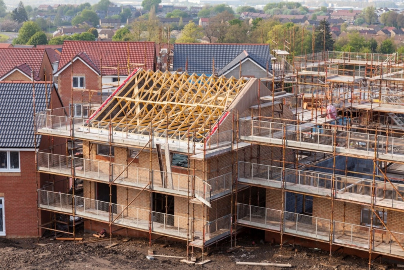 New houses under construction