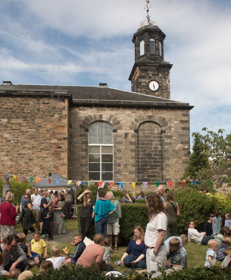 Action Porty celebrating the acquisition of Bellfield Old Parish Church, Portobello, Edinburgh