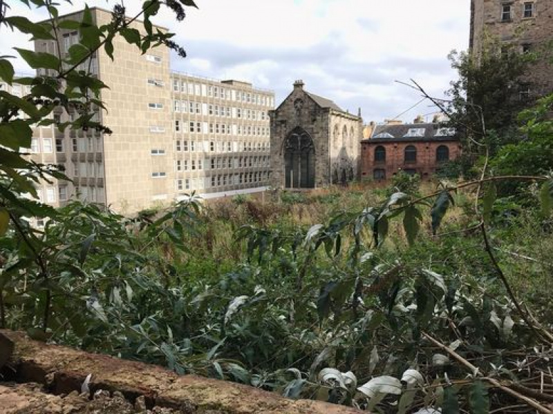 A long-term 'DUSTE' site on Jeffrey Street in the heart of Edinburgh