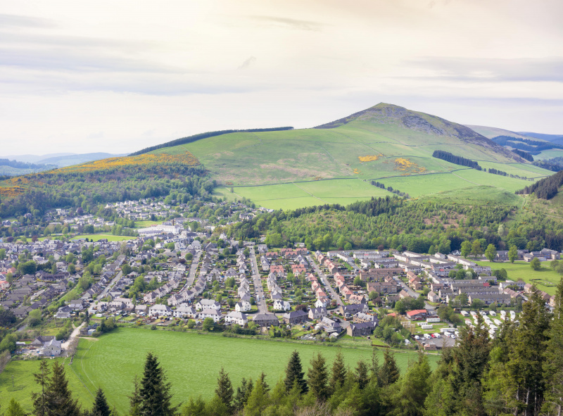 Mixed use landscape of urban and rural land in Scotland - iStock.com/georgeclerk