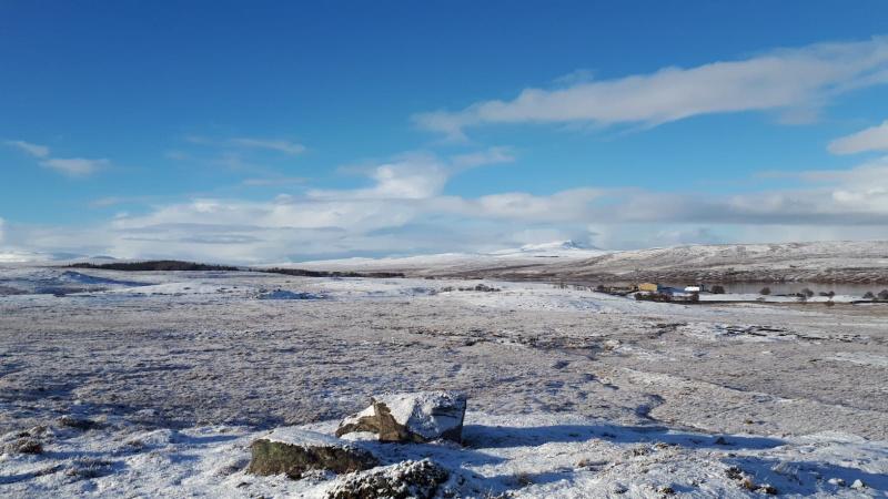 Snowy Landscape in Sutherland