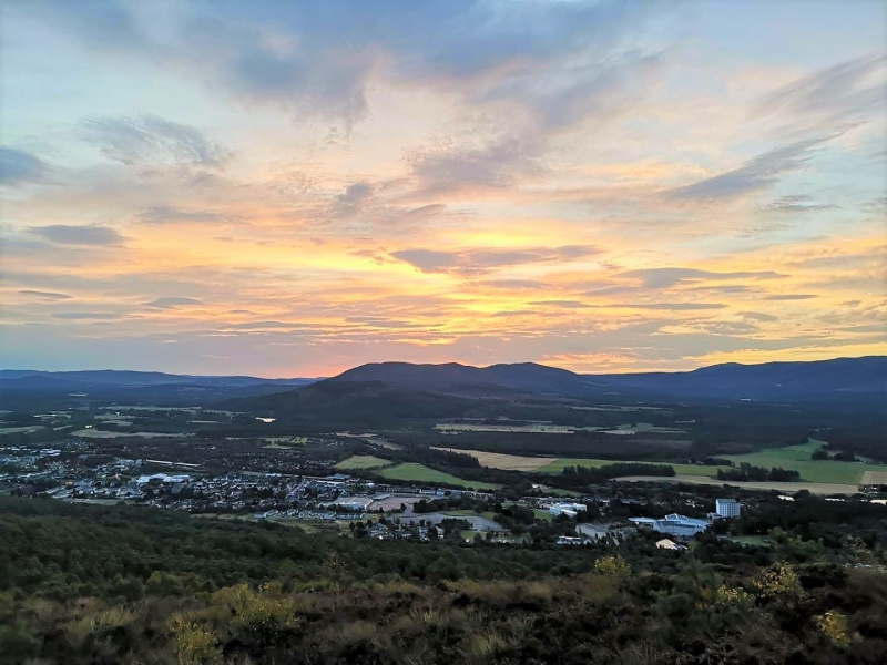 A view of Aviemore from Craigellachie Nature Reserve