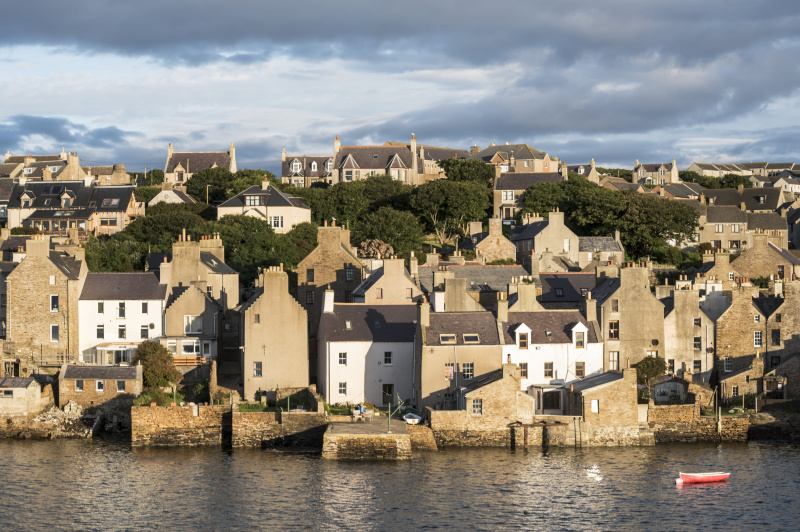 Stromness village in the Orkney islands. Credit: iStock – Nicola Colombo.