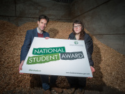 Scottish Land Commission Chief Executive Hamish Trench pictured with National Student Award winner Heloise Le Moal.