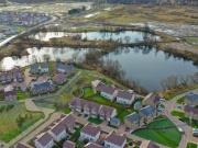 Aerial view of the Dargavel housing development (Credit - Cass Associates)